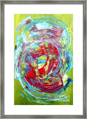 Abstract Green/red Framed Print by Jay Anthony Gonzales