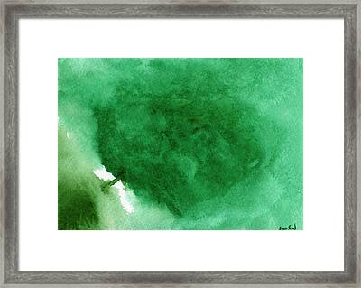 Abstract Green Framed Print by Sean Seal