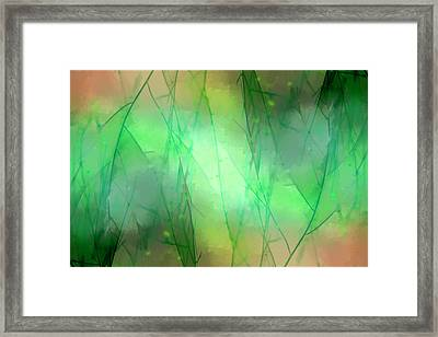 Abstract Green Weeds Framed Print