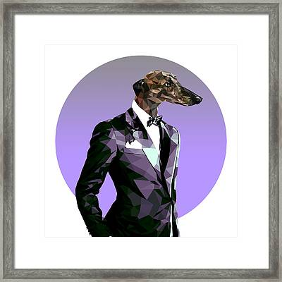 Abstract Greyhound 2 Framed Print by Gallini Design