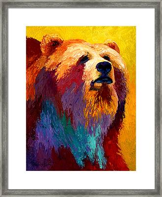 Abstract Grizz Framed Print by Marion Rose