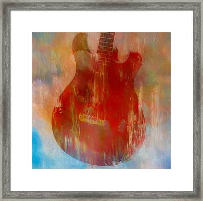 Abstract Guitar Framed Print by Dan Sproul