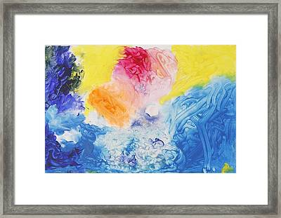 Abstract Heart Framed Print by Contemporary Michael Angelo
