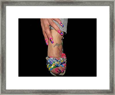 Abstract High Heel Shoe Framed Print by HollyWood Creation By linda zanini
