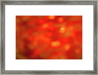 Abstract Honey Cakes Framed Print