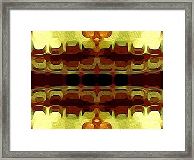 Abstract Horizontal Tiles - Harvest 1977 Framed Print by Jason Freedman