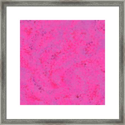 Framed Print featuring the mixed media Abstract Hot Pink And Lilac 4 by Clare Bambers