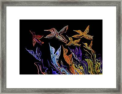 Abstract Hummers Framed Print
