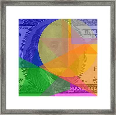 Abstract Hundred Dollar Bill Framed Print