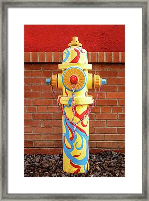 Framed Print featuring the photograph Abstract Hydrant by James Eddy