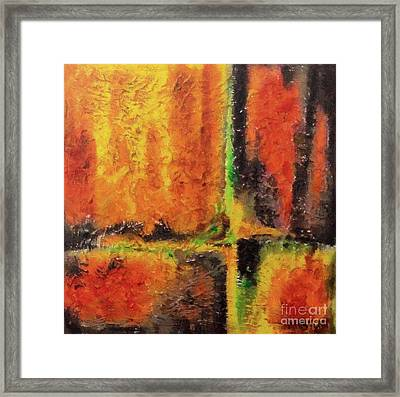 Framed Print featuring the mixed media abstract I by Dragica  Micki Fortuna