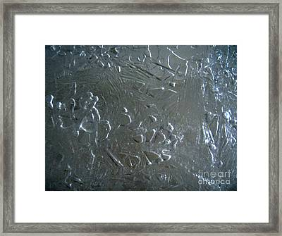 Abstract Ice 2 Framed Print
