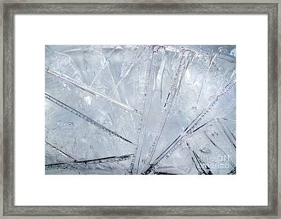 Abstract Ice. Morning Framed Print