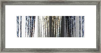 Framed Print featuring the digital art Abstract Icicles by Will Borden