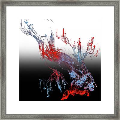 Abstract Idea 6 Black And White Soft Framed Print