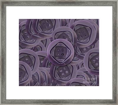 Abstract Image Of The Buttons Framed Print