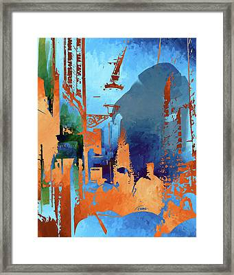 Abstract  Images Of Urban Landscape Series #1 Framed Print