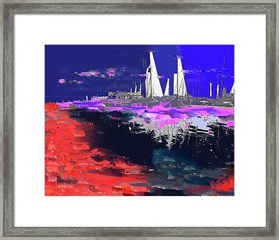 Abstract  Images Of Urban Landscape Series #14 Framed Print