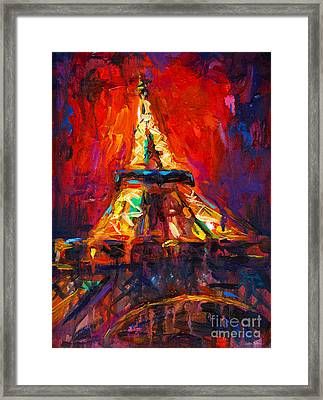 Abstract Impressionistic Eiffel Tower Painting Framed Print