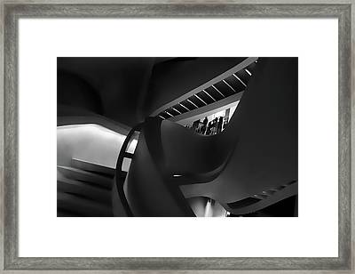 Abstract In Black Framed Print by Jessica Jenney