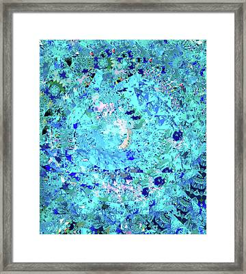 Abstract In Blue No. 56-2 Framed Print