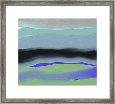 Abstract In Blues And Green Framed Print