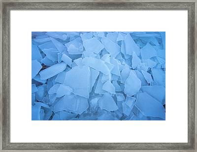 Abstract In Ice Framed Print
