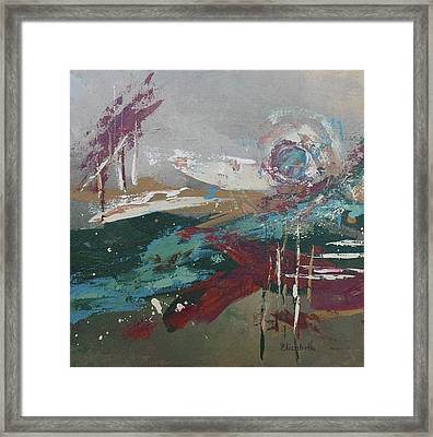 Abstract In Jewel Tones Framed Print by Beth Maddox