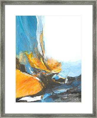 Abstract In Motion Framed Print by Glory Wood
