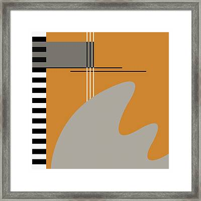 Abstract In Orange Framed Print by Absentis Designs