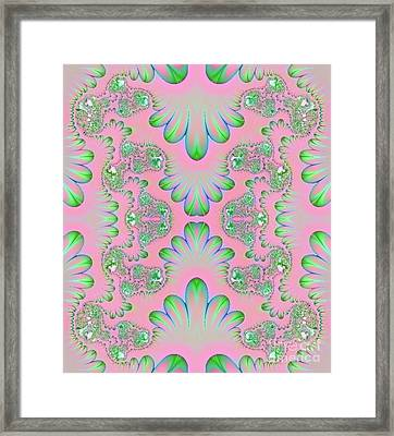 Framed Print featuring the digital art Abstract In Pastels by Linda Phelps