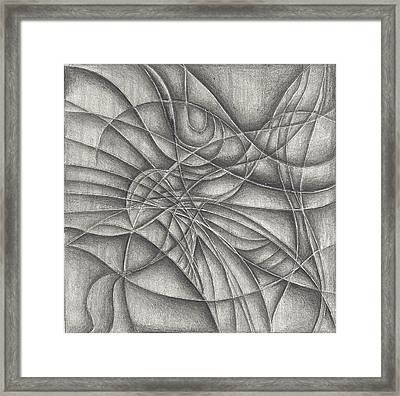 Abstract In Pencile Framed Print