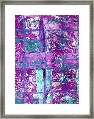 Abstract In Purple And Teal Framed Print