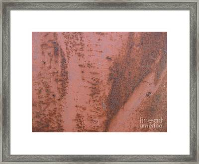 Abstract In Rust Framed Print by Karen Sydney