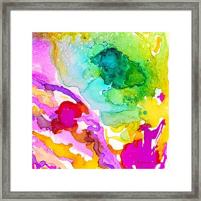 Transcendent Love 1 Abstract Ink Art Colorful Original Artwork Framed Print by Patricia Awapara