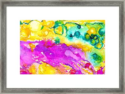 Transcendent Love Abstract Ink Art Colorful Wall Art Framed Print by Patricia Awapara
