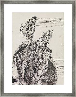 Abstract Ink Sketch Framed Print