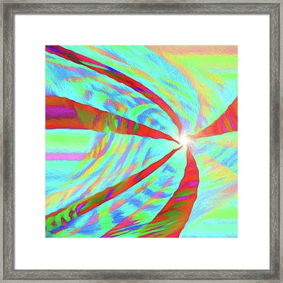 Abstract - Into The Light Framed Print
