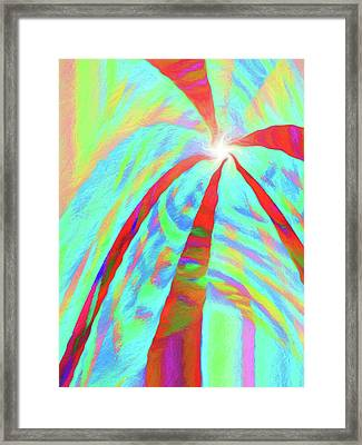 Abstract - Into The Light  Vertical Framed Print