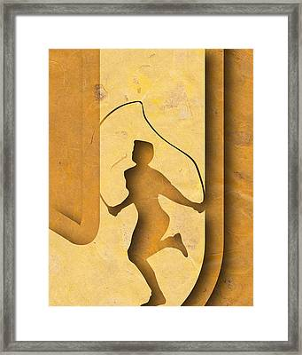 Abstract J Framed Print