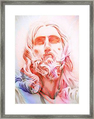 Framed Print featuring the painting Abstract Jesus 1 by J- J- Espinoza