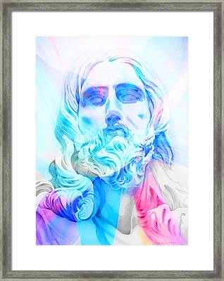 Framed Print featuring the painting Abstract Jesus 3 by J- J- Espinoza