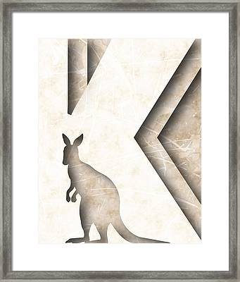 Abstract K Framed Print