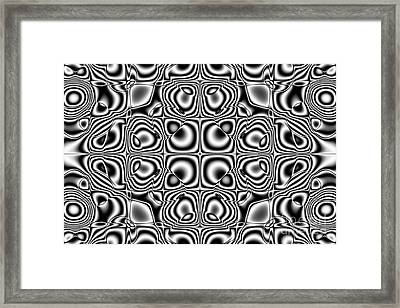 Abstract Kaleidoscopic Pattern Framed Print