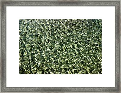 Framed Print featuring the photograph Abstract Lake Reflections by LeeAnn McLaneGoetz McLaneGoetzStudioLLCcom