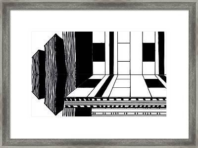 Digital Landscape 1 Framed Print by Heather Brown