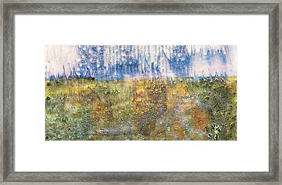 Abstract Landscape Art - Only Words - Sharon Cummings Framed Print by Sharon Cummings