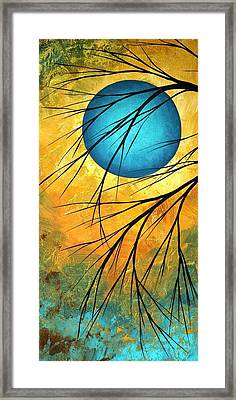 Abstract Landscape Art Passing Beauty 1 Of 5 Framed Print by Megan Duncanson