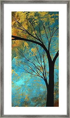 Abstract Landscape Art Passing Beauty 3 Of 5 Framed Print by Megan Duncanson