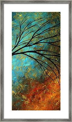 Abstract Landscape Art Passing Beauty 4 Of 5 Framed Print by Megan Duncanson